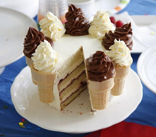tarta fácil con helados