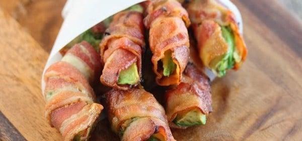 Receta de aguacate con bacon
