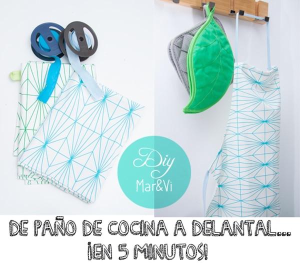 Manualidades con tela un delantal muy f cil - Manualidades cocina para ninos ...