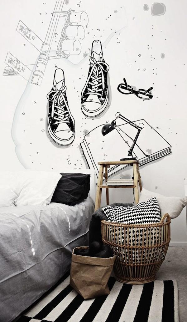 6 dormitorios juveniles muy originales pequeocio for Mural habitacion juvenil