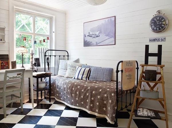 habitaciones juveniles vintage