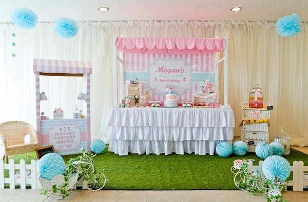 Fiesta infantil de cupcakes para niñas