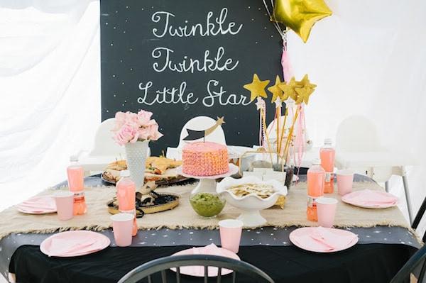 Fiesta de primer cumpleaños para niña