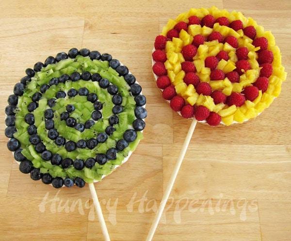 merienda de fruta para niños