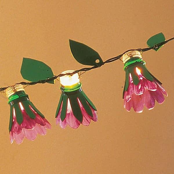 guirnalda de flores casera