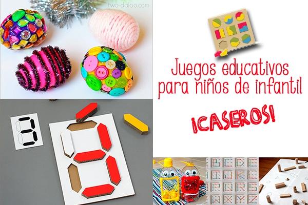 Juegos educativos caseros para ni os de infantil pequeocio - Trabajos caseros para hacer en casa ...