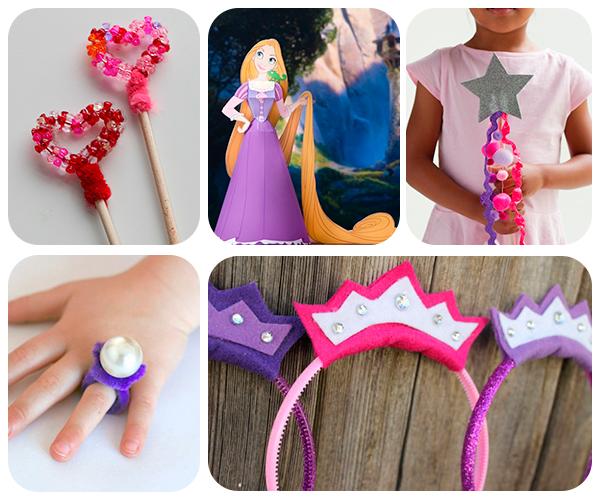 5 manualidades infantiles para princesas pequeocio - Fiestas infantiles princesas disney ...
