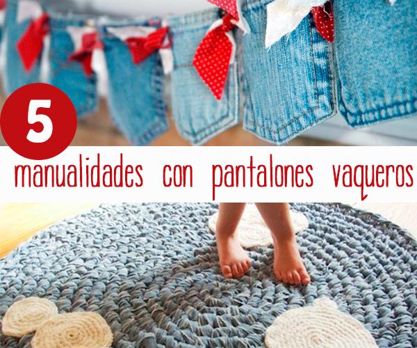 5 manualidades originales con pantalones vaqueros pequeocio - Alfombras que se pueden fregar ...
