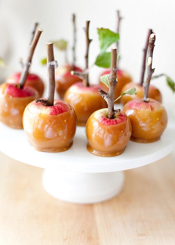 Postres fáciles manzanas de caramelo