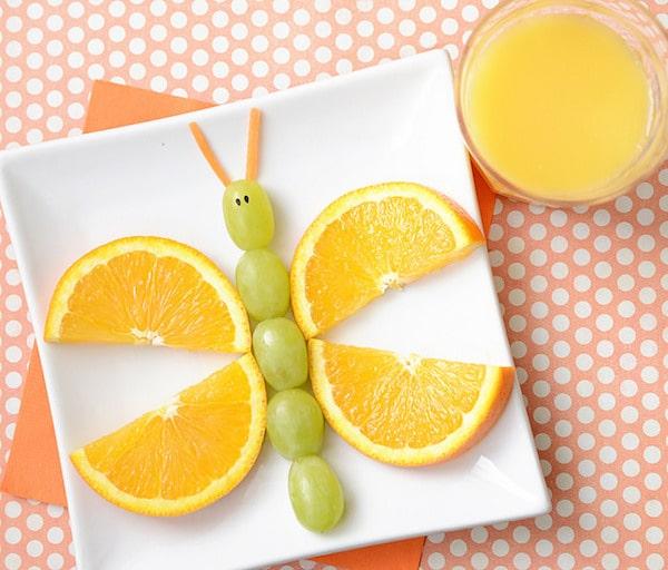 Mariposa fruta