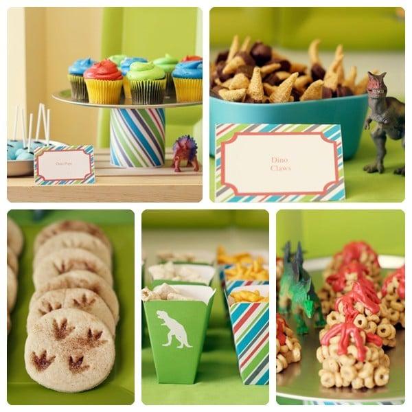 mesa dulce para fiesta de dinosaurios