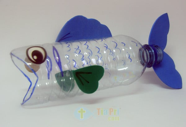Water Bottle Whale Craft