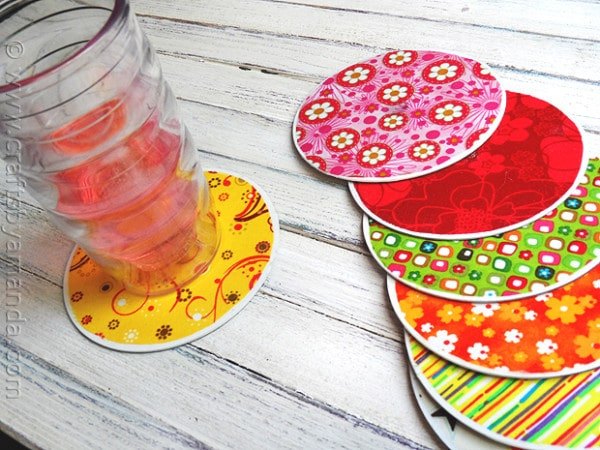 Recycle CD Coasters Craft