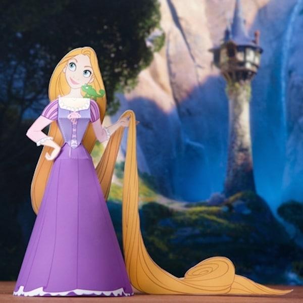 Rapunzel para imprimir