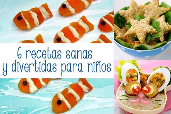recetas sanas y divertidas para niños