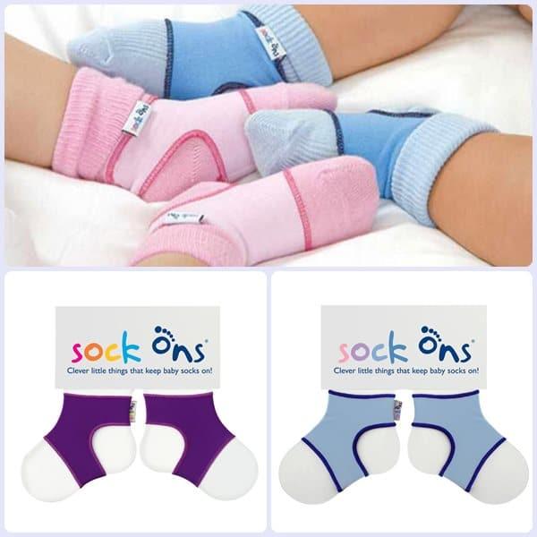Sock ons, ¡sujeta calcetines para bebés!