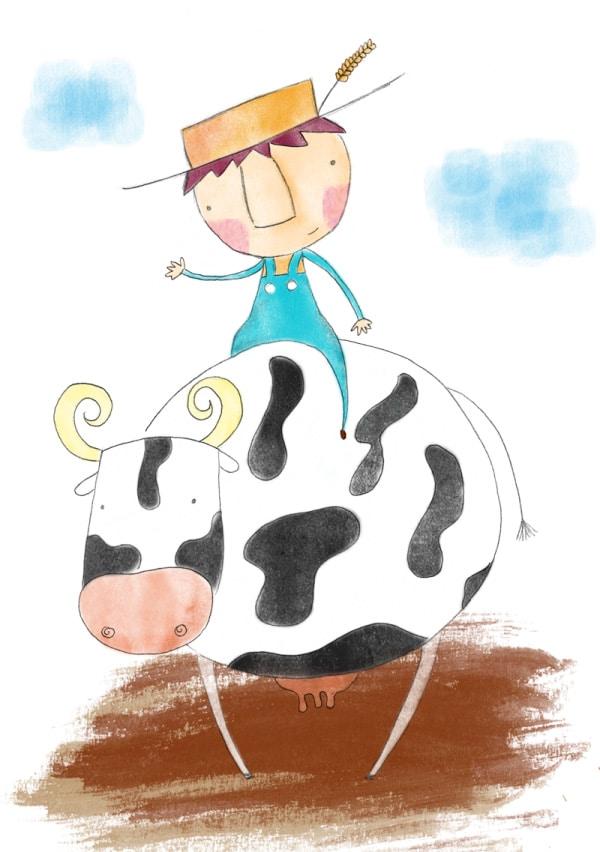Cuento en inglés para niños: Cows don't go to school