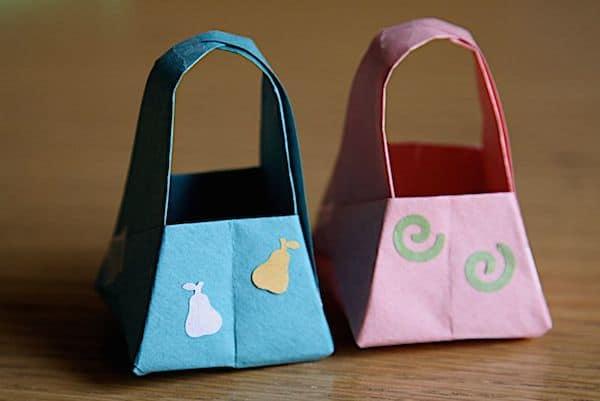 bolsos para niñas de origami