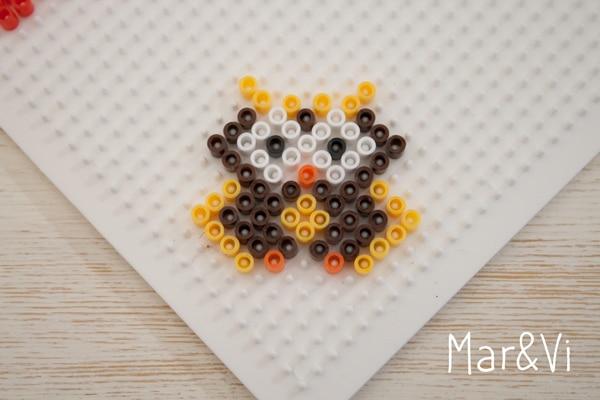 Patrón de Hama Beads para hacer un búho