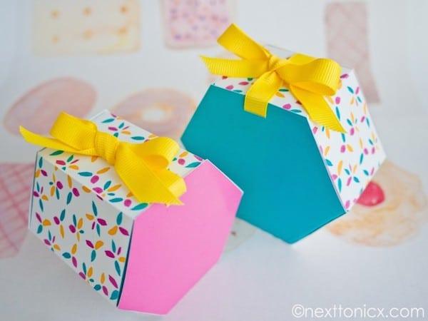 cajas para regalo para imprimir
