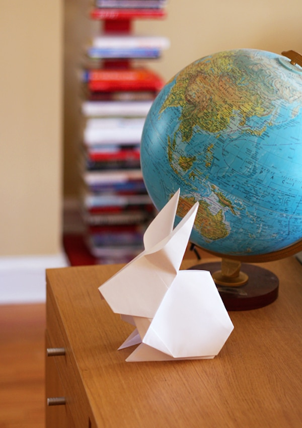 conejo de origami o papiroflexia