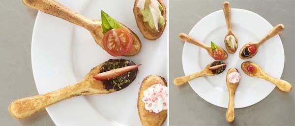 cómo hacer cucharas comestibles