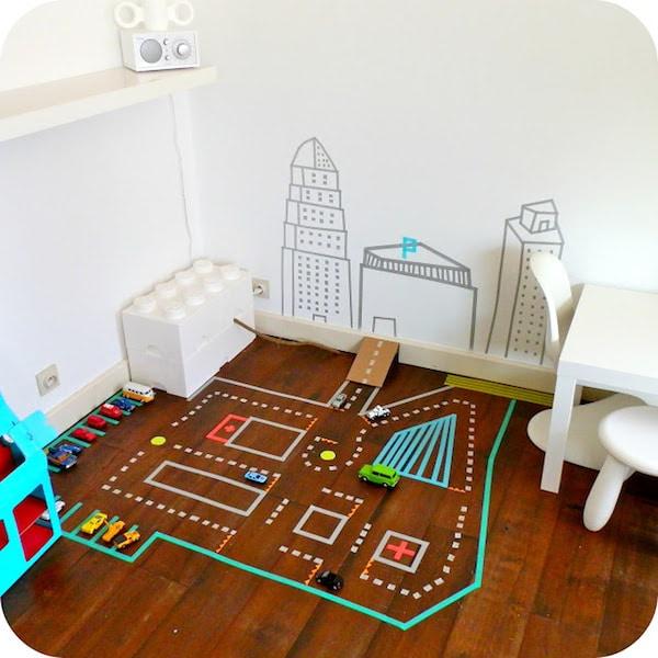 habitaciones infantiles decoradas con washi tape. Black Bedroom Furniture Sets. Home Design Ideas