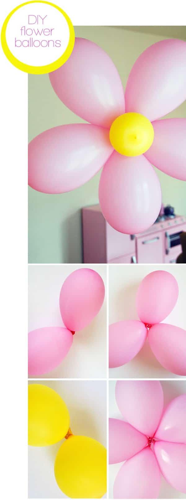 cómo hacer flores de globos