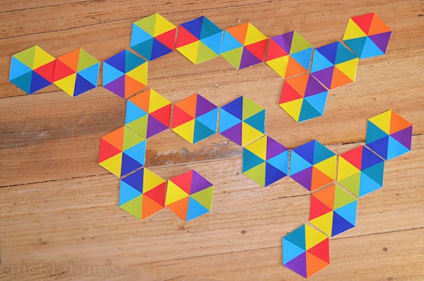 Domino hexagonal para imprimir gratis