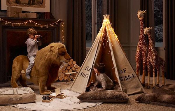 habitaciones infantiles estilo safari