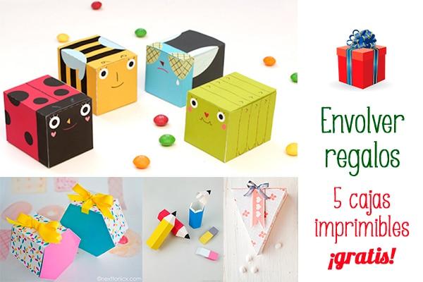 Envolver regalos: 5 cajas imprimibles ¡gratis! | Pequeocio.com