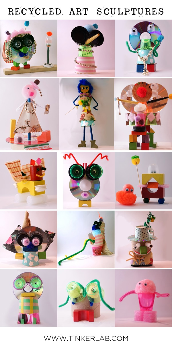 Manualidades Recicladas El Juego De Las Esculturas Pequeocio Com