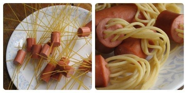 pasta con salchicha