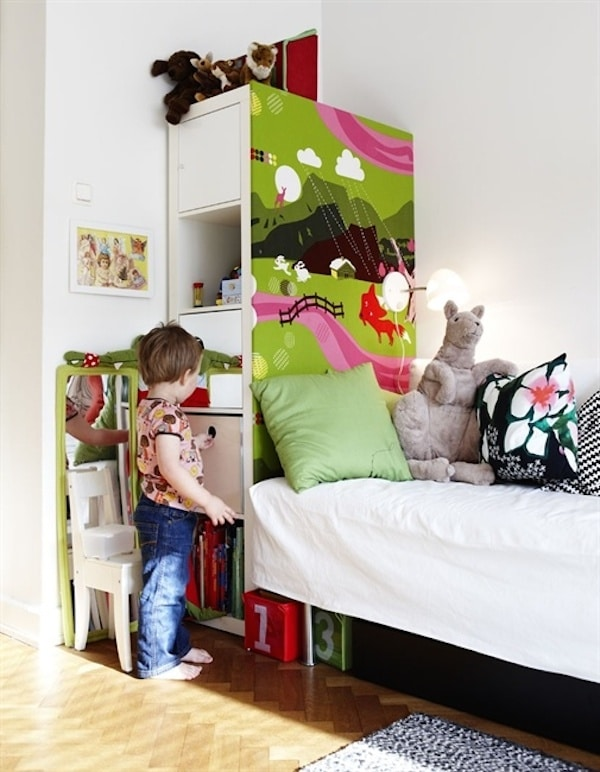 Muebles infantiles 9 ikea hacks de estanter as pequeocio - Ikea cabecero infantil ...