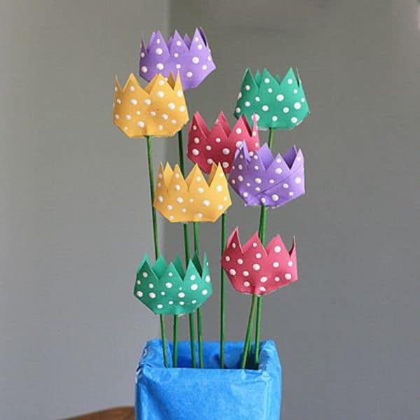 Flores de papel 7 tutoriales paso a paso for Decoracion primavera manualidades