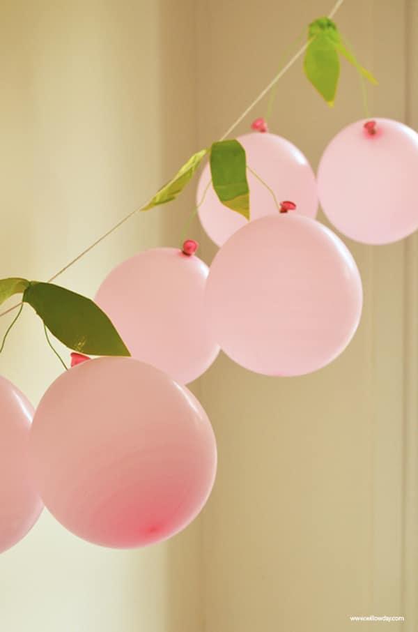 fiestas infantiles decorar con guirnaldas de globos