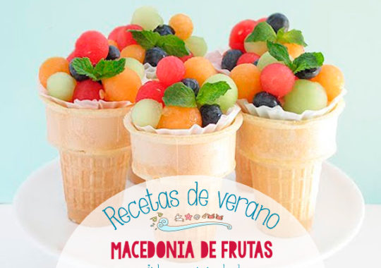 Recetas de verano, macedonia de frutas