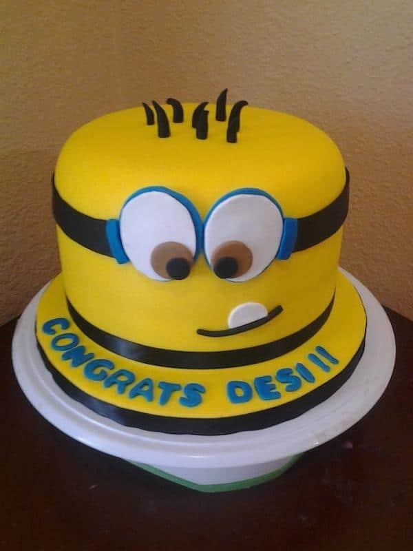 tarta de cumpleaños de los minions