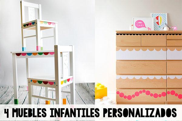 4 muebles infantiles personalizados
