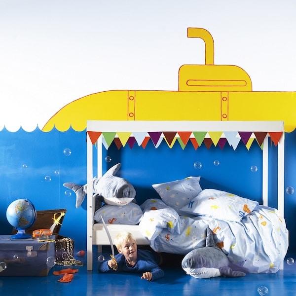 Murales y vinilos 10 ideas para habitaciones infantiles for Habitaciones infantiles dobles ikea