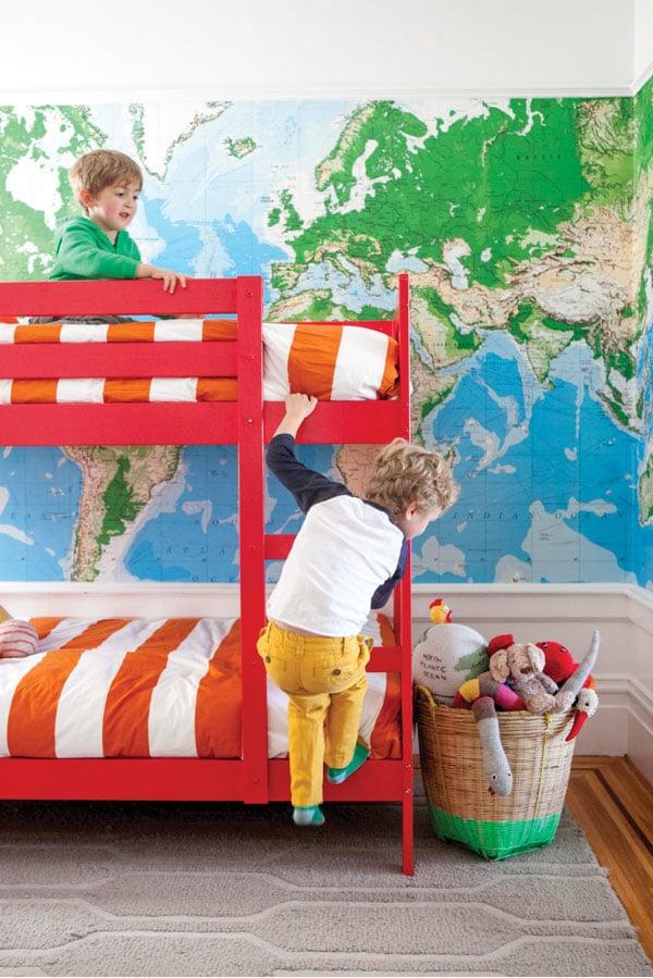 Murales de mapas para niños