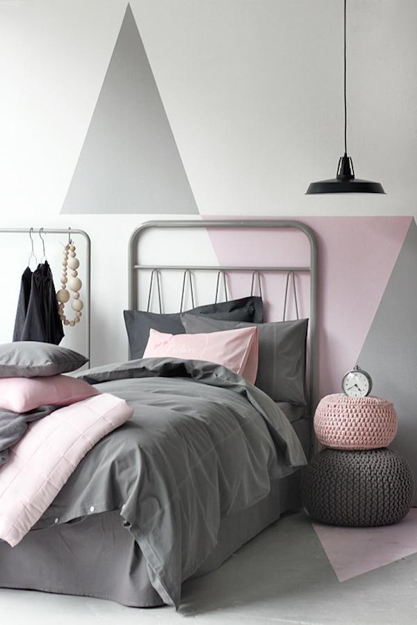 Murales geométricos para paredes infantiles