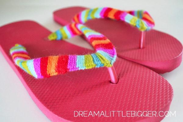 chanclas personalizadas con lana