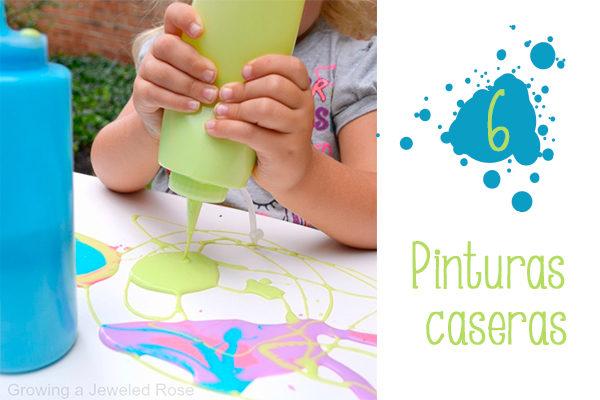 pinturas caseras para niños