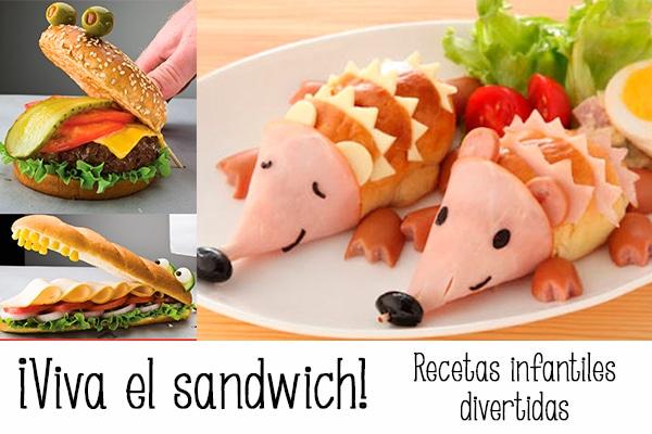 Sandwiches 5 recetas infantiles divertidas pequeocio for Ideas cocina rapida