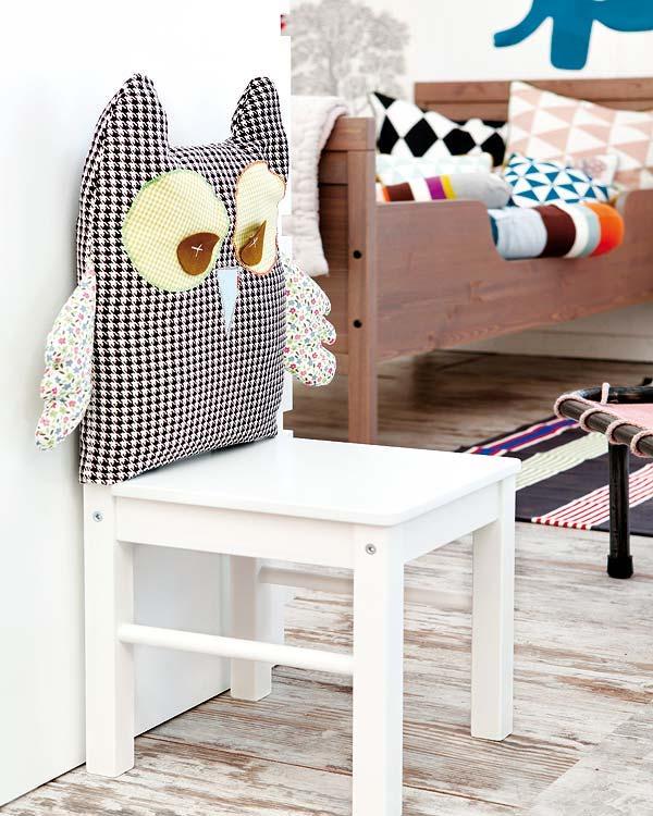 respaldo de silla con tela
