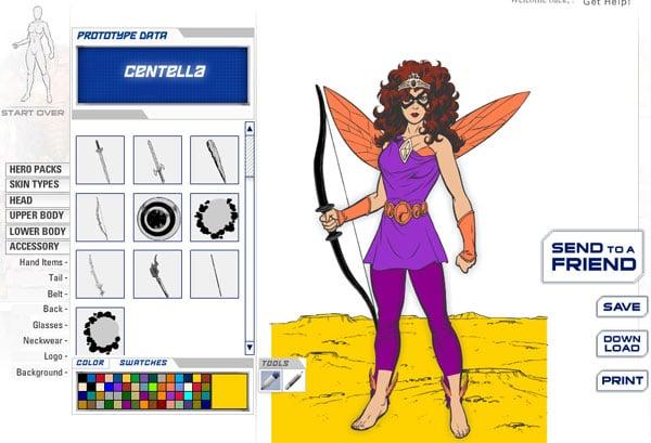 Juego infantil online de superhéroes Marvel