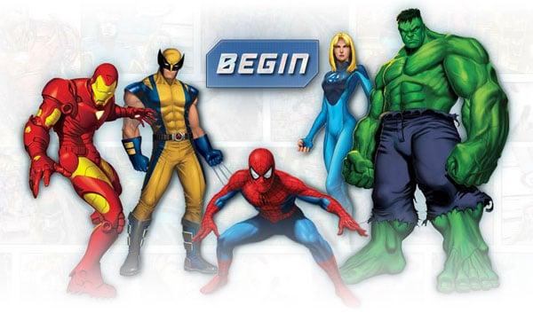 online super heroes