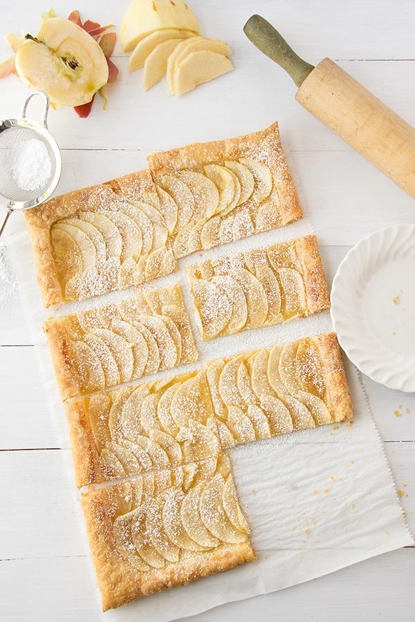 Tarta de hojaldre y manzanas fácil