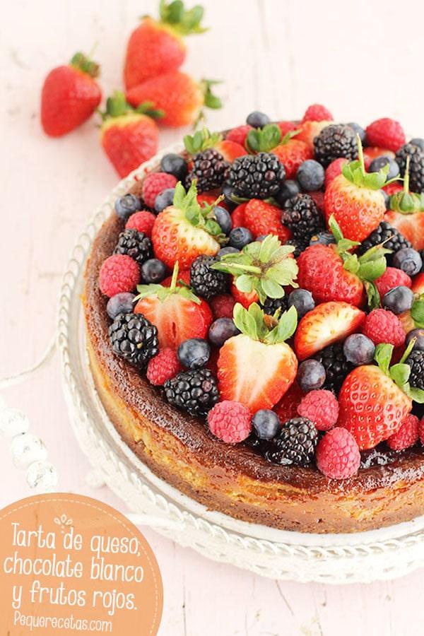 Tarta de fruta y chocolate